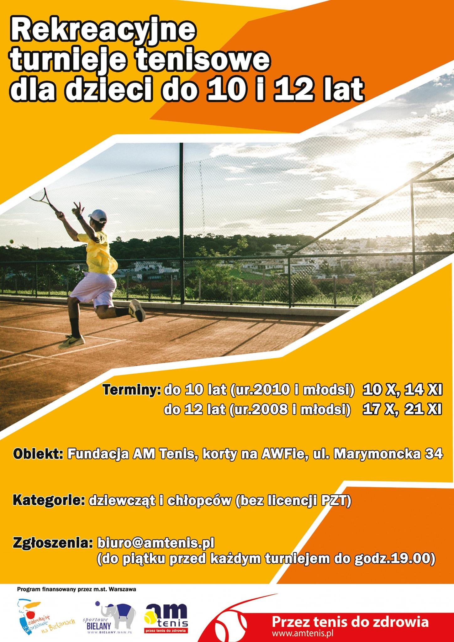 Amatorskie Turnieje Tenisowe dla dzieci !!!